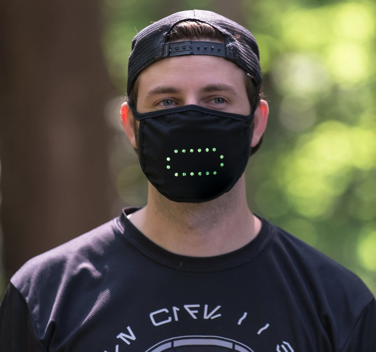 Mask Market LED Smart Light-Up Mask responds to your voice