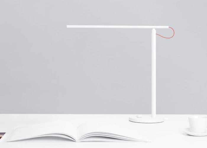 """Mi Lamp Smart Lamp from Xiaomi """"aria-descriptionby ="""" gfl-post-gallery-7-432187 """"/> Mi Lamp Smart Lamp from Xiaomi on a desk with a book <img loading="""