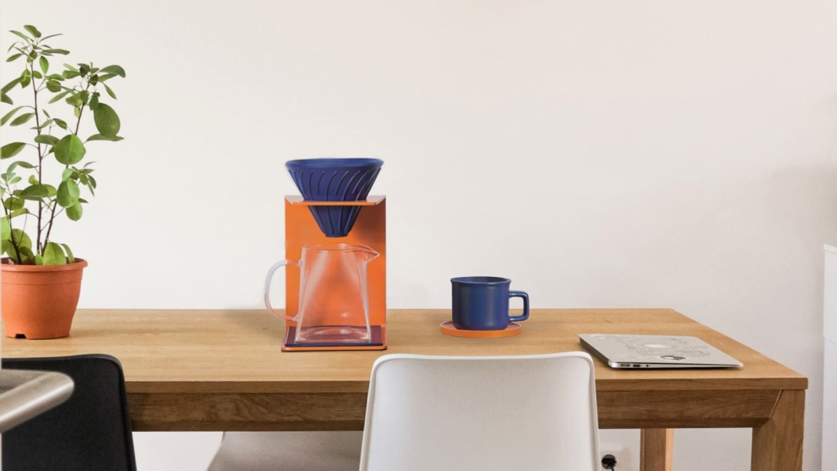 Ninetyº pour over coffee making set provides beauty and a delicious brew