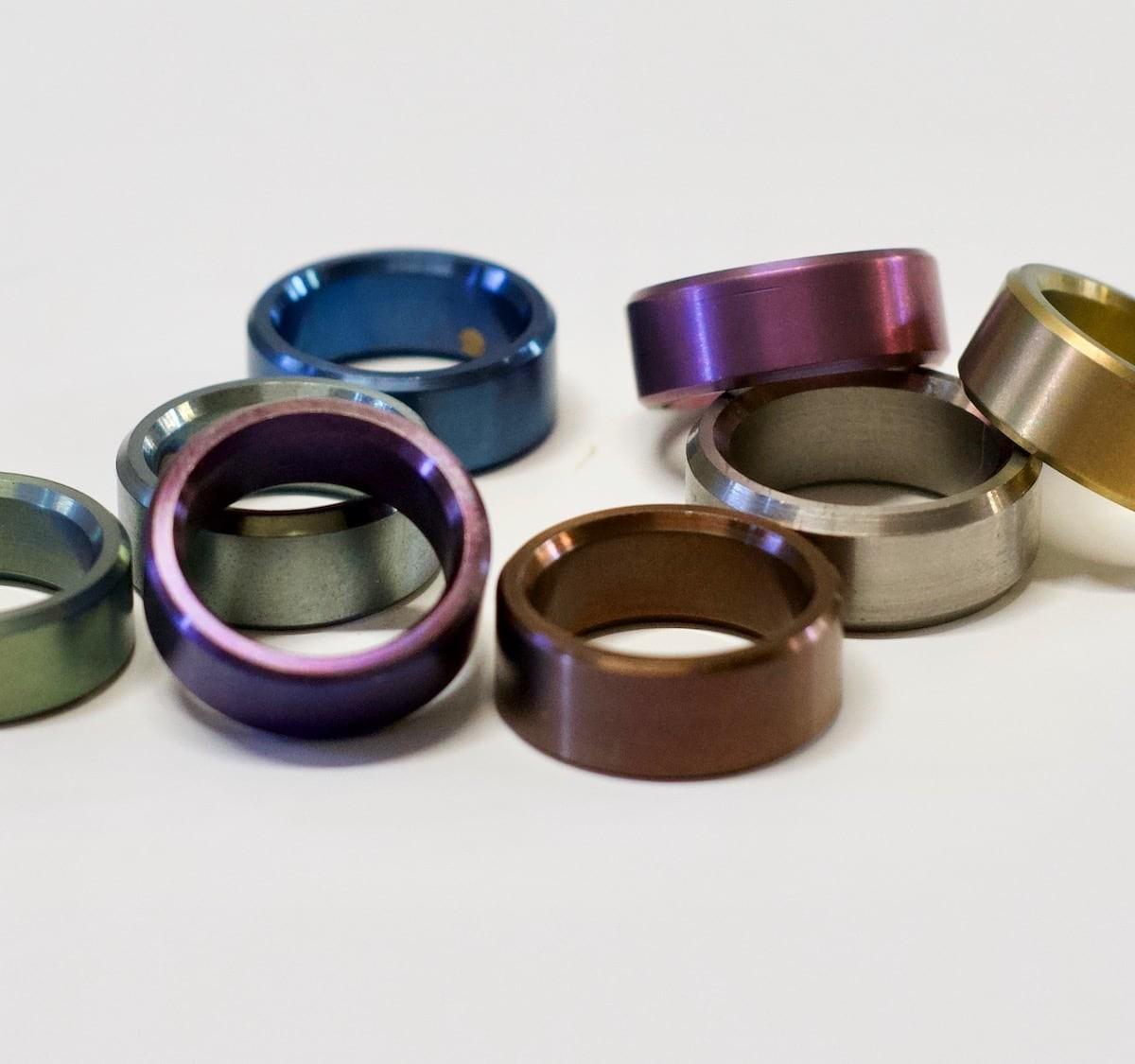Oracle colorful titanium rings are simple but so unique