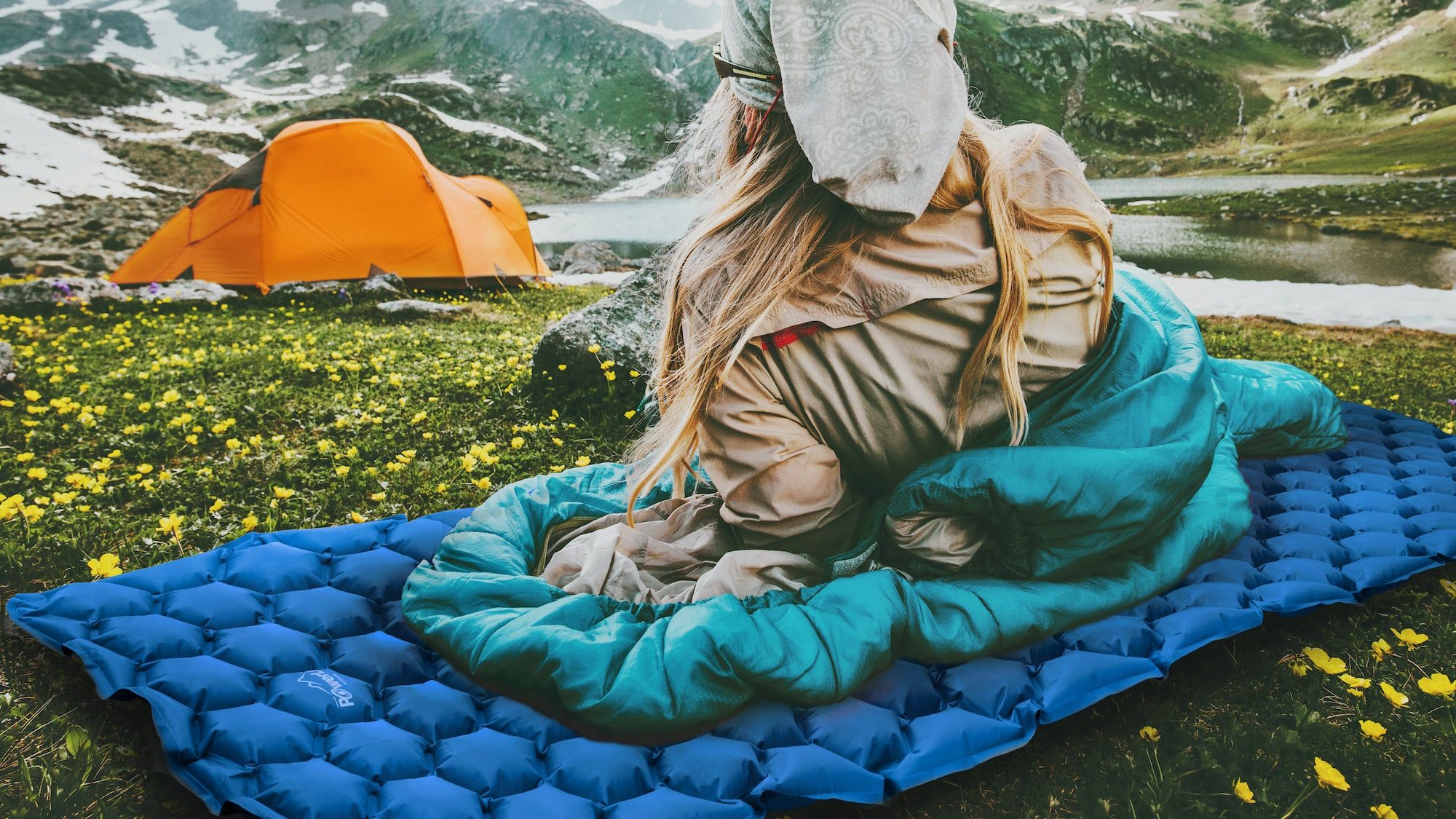 POWERLIX ultralight sleeping pad uses body mapping technology