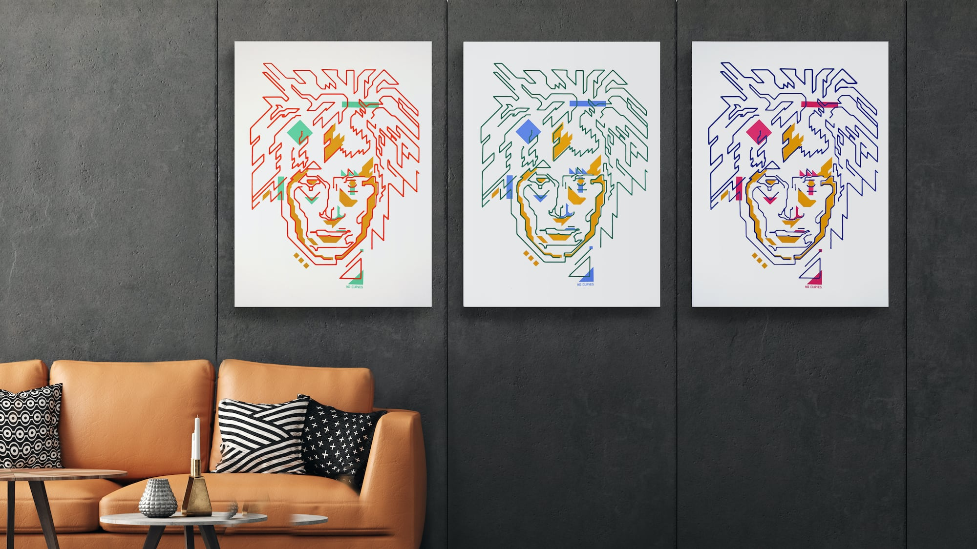 Proximars Painting Collection robot-made art creatively combines human and tech designs