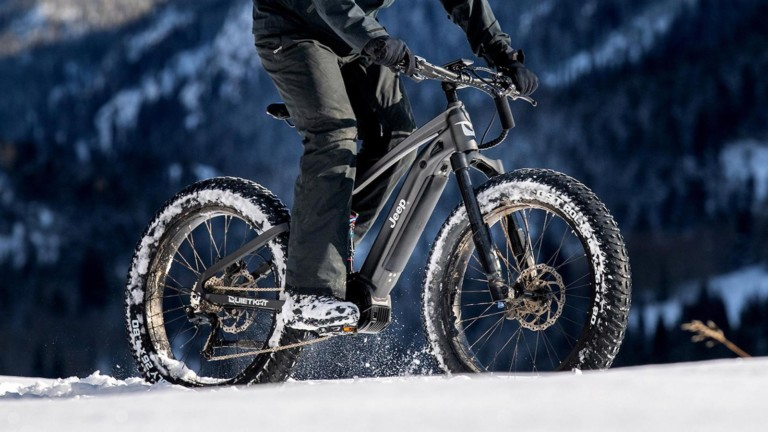 QuietKat x Jeep full-suspension bicycle travels up to 60 miles
