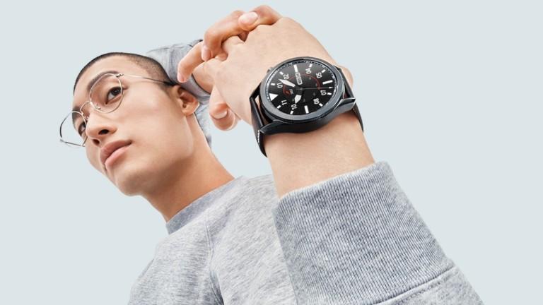 This Samsung Galaxy Watch3 has a rotating bezel
