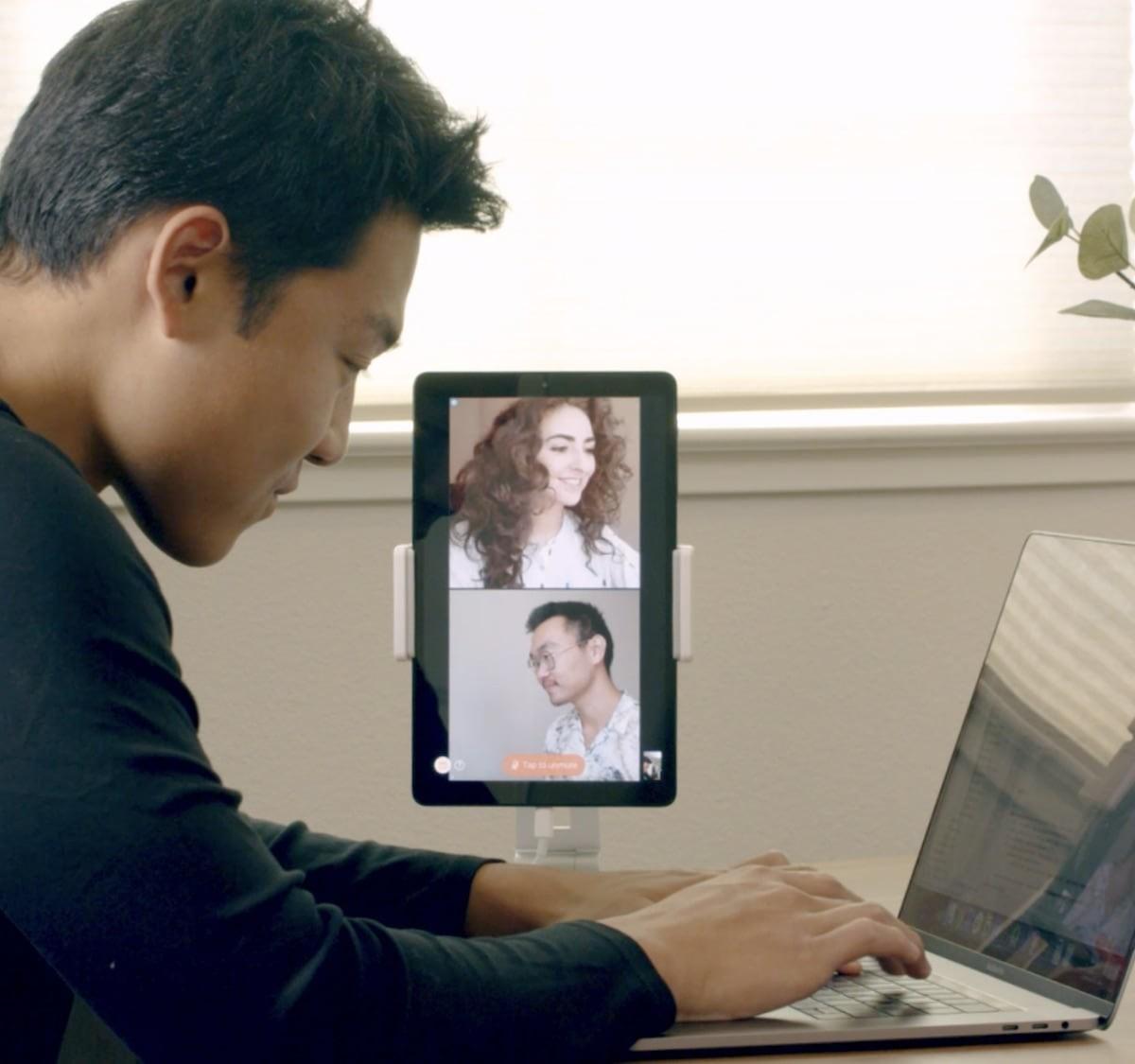 Sidekick always-on video screen keeps remote teams connected