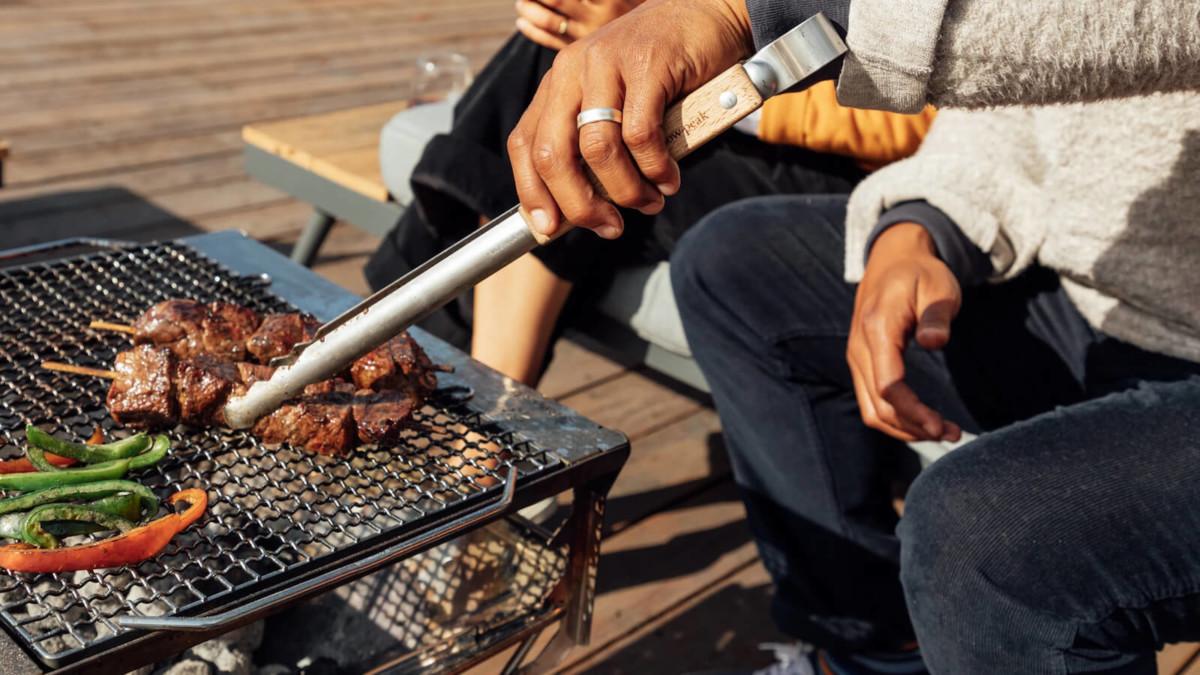 Snow Peak Takibi Fire & Grill 5-piece barbecue creates a gathering anywhere