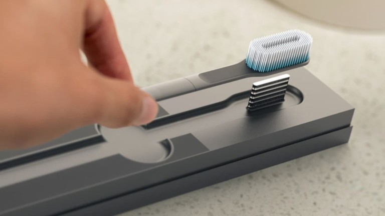 SuperBlue Toothbrush by Dylan Fealtman Sanitizing Teeth Cleaner
