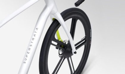 This unique carbon fiber bicycle is super light and 3D-printed