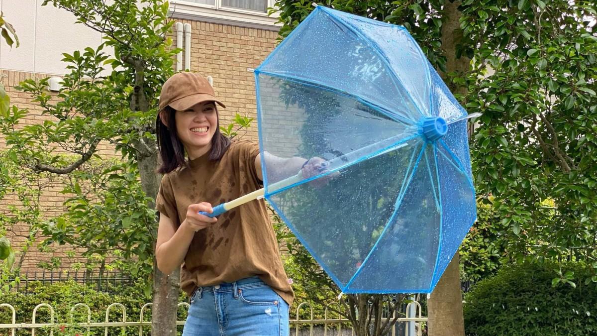 This Water Gunbrella squirt gun shoots nearly 15 meters