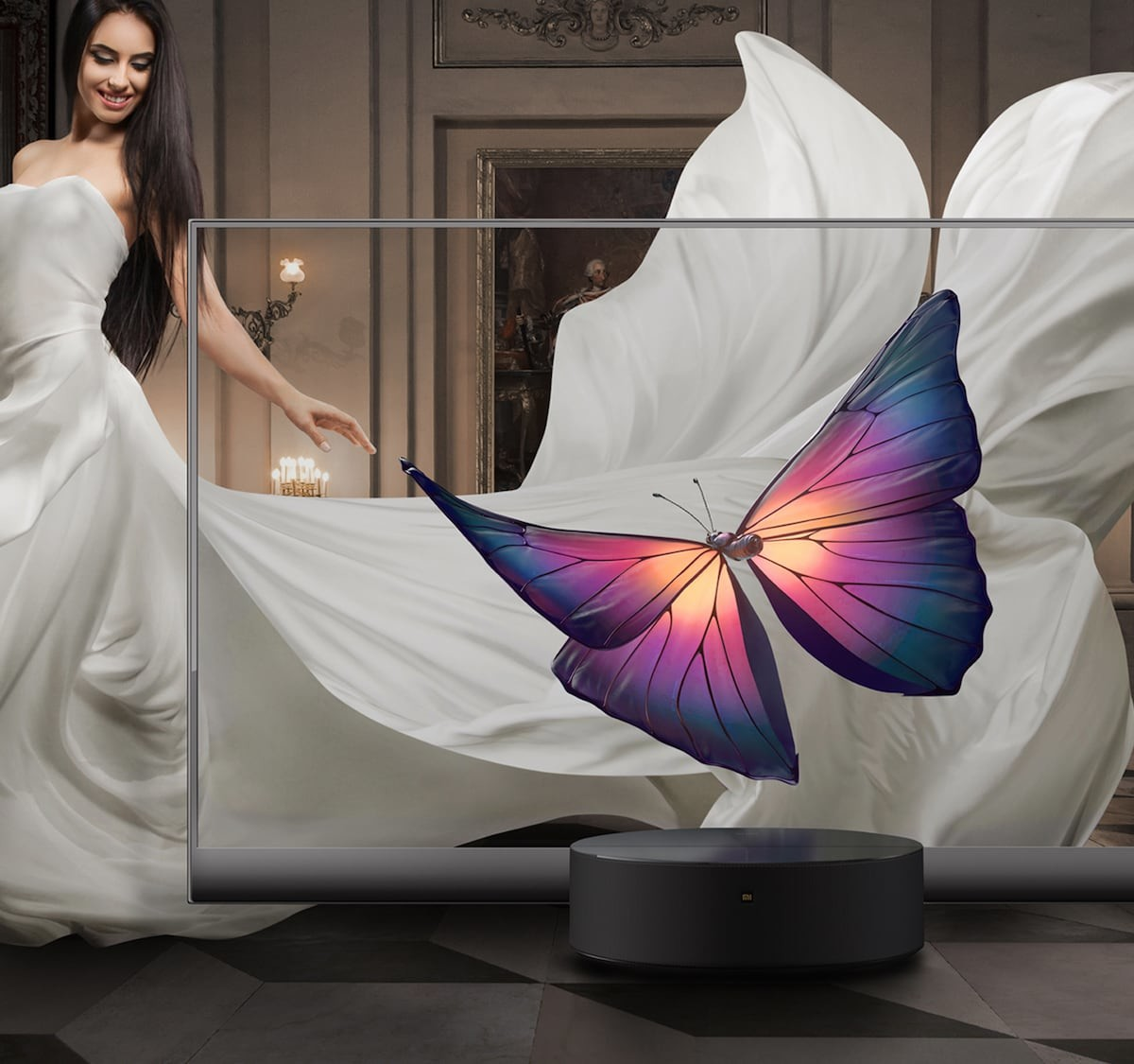 Xiaomi Mi TV LUX OLED Transparent Edition clear TV has an edge-to-edge display
