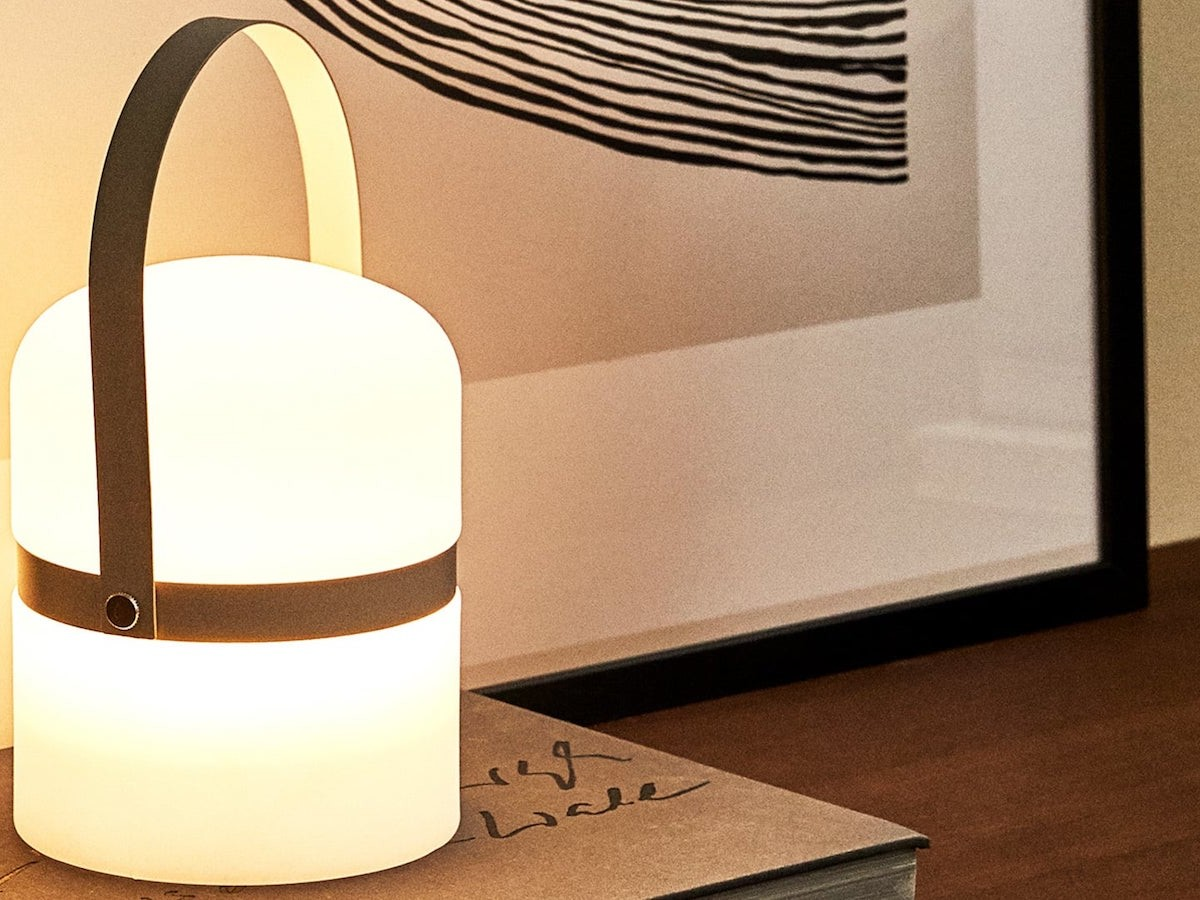 Zara Home Lamp with Handle bamboo light is cordless
