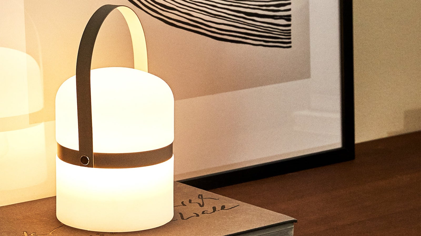 Zara Home Lamp with Handle Bamboo Light