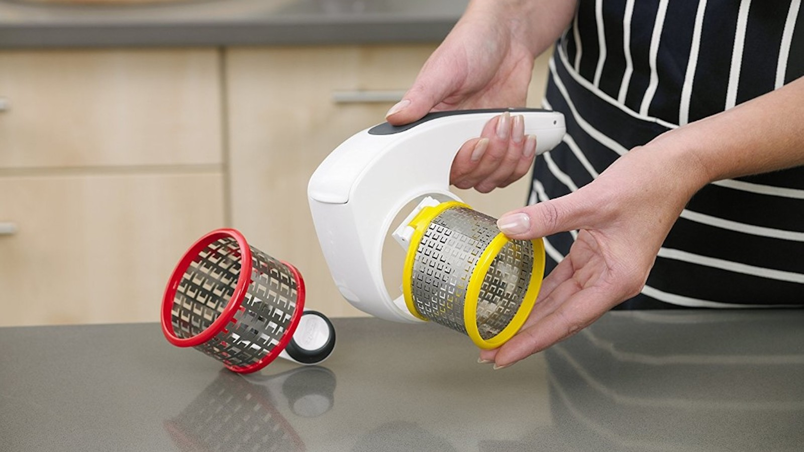Zyliss food slicer quickly grates cheese to save you time