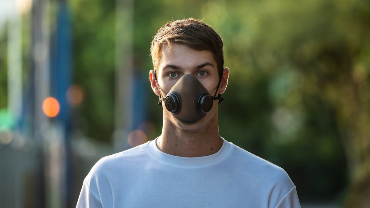 purME everyday gas mask is totally transparent and comfortable