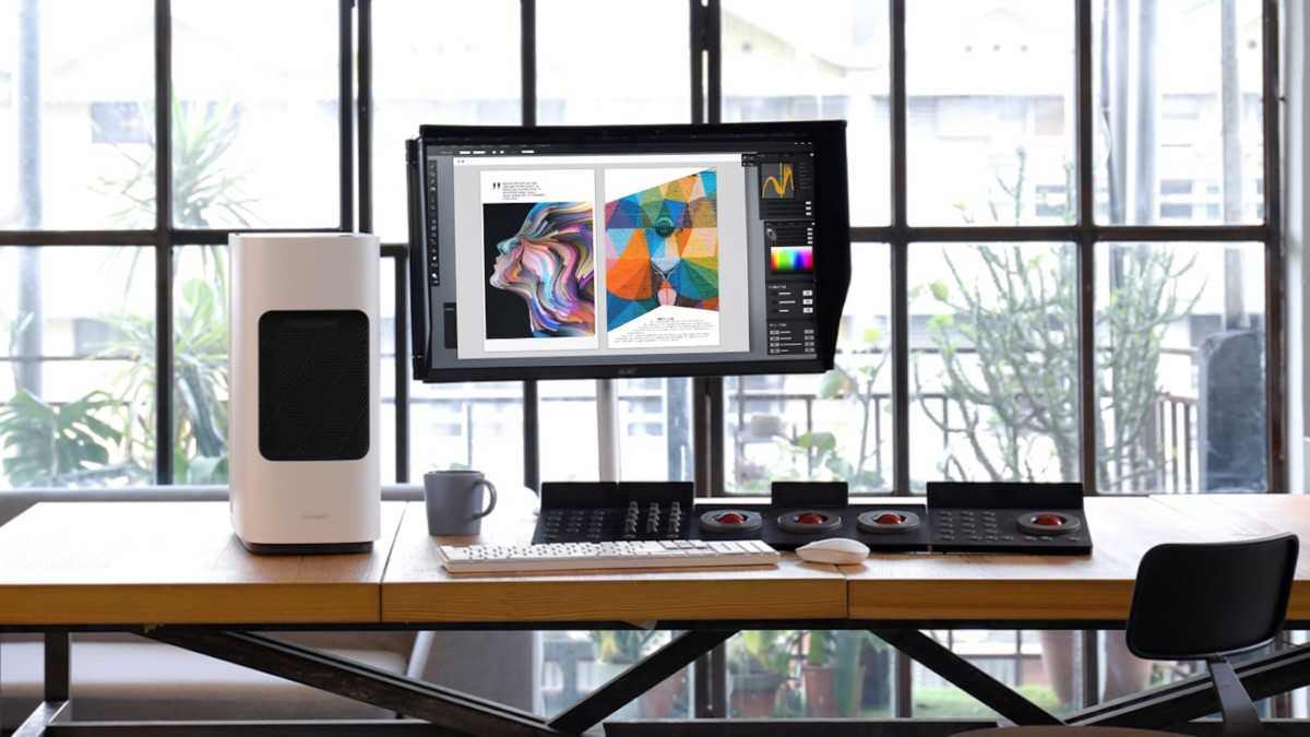 Acer ConceptD CM3 professional monitor produces PANTONE-Validated colors
