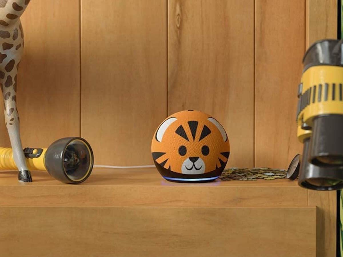 Amazon Echo Dot Kids' Edition 4th-generation smart speaker has an animal-themed design