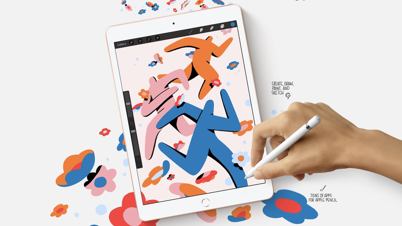 The iPad 8th Generation is built with the powerful A12 bionic chip