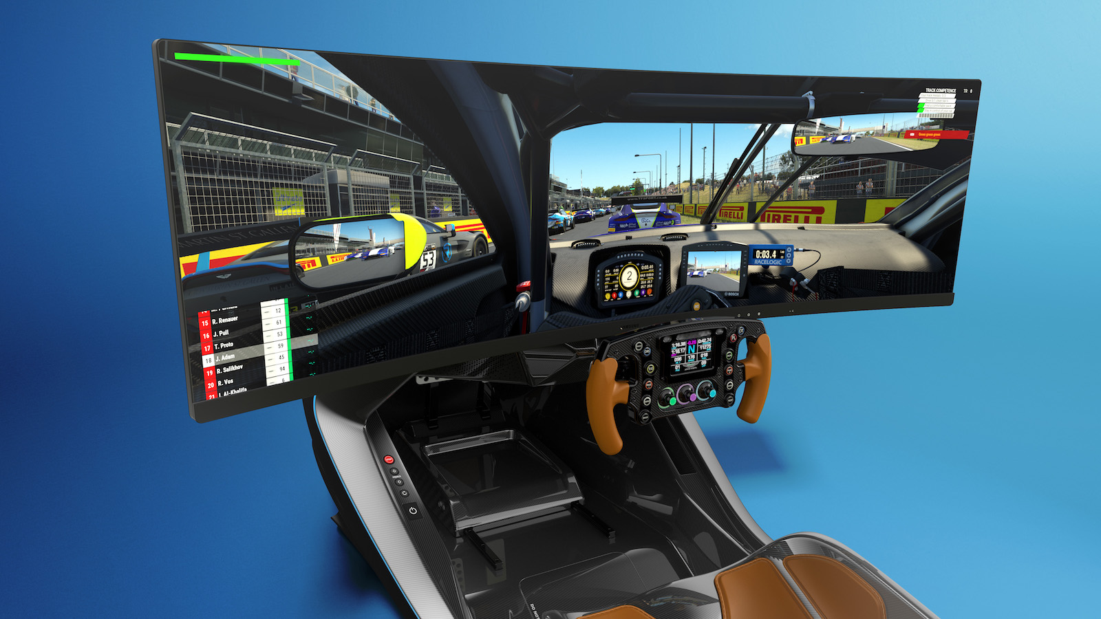 Aston Marton x Curv AMR-C01 racing simulator feels like driving an Aston Marton