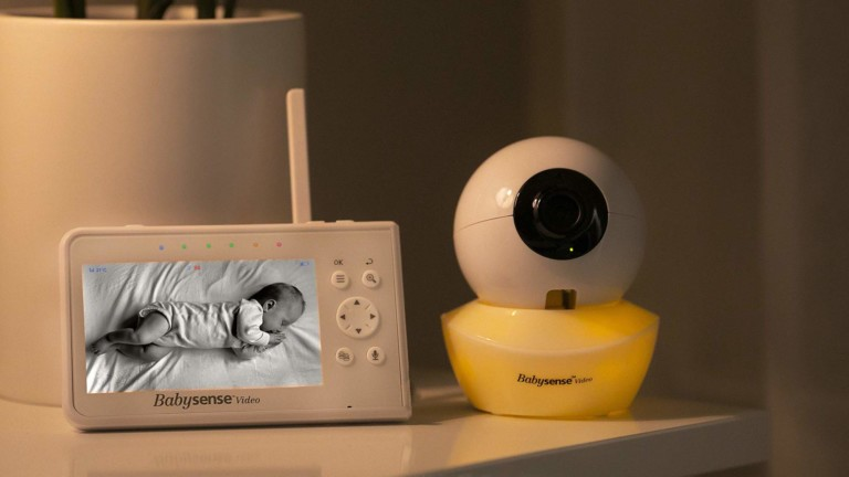 Babysense V43 Split Screen Video Baby Monitor lets you see two kids at once