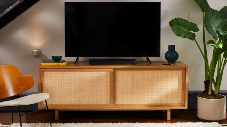 Bose TV Speaker media sound system sets up in just one simple step