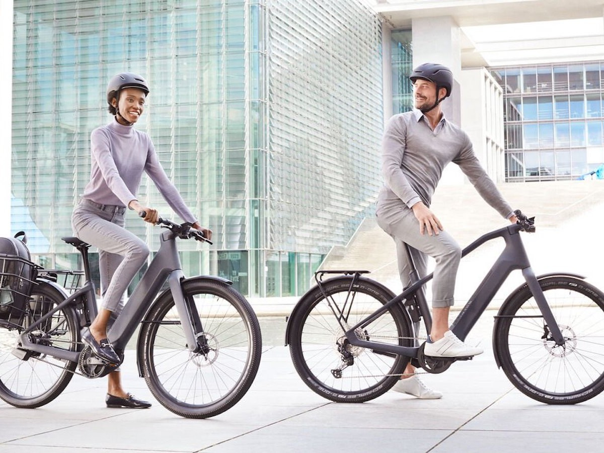 Canyon Precede:ON CF 9 urban eBikes have a Bosch Performance Line CX motor
