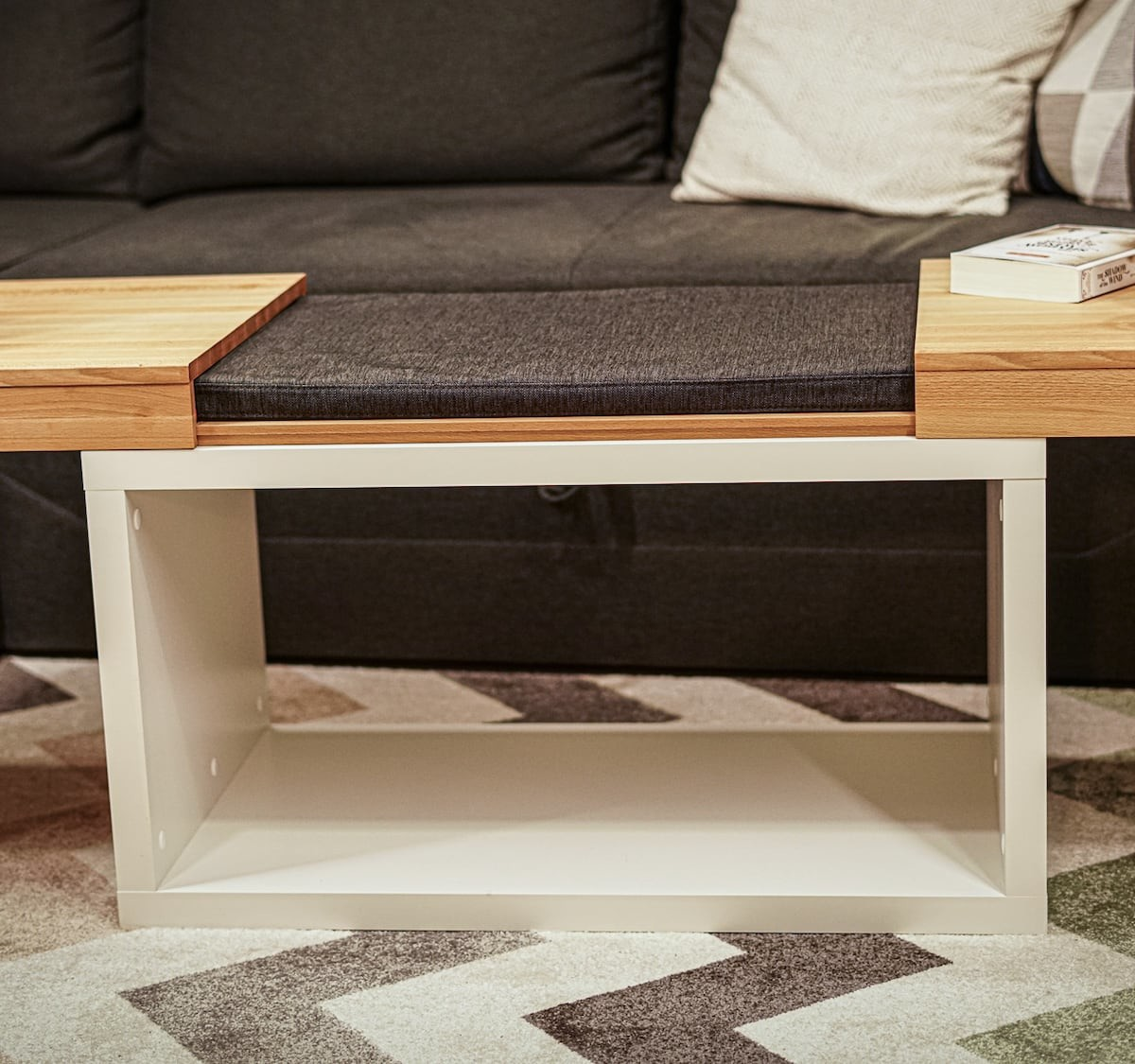 Comforttable coffee table is both stylish and comfy