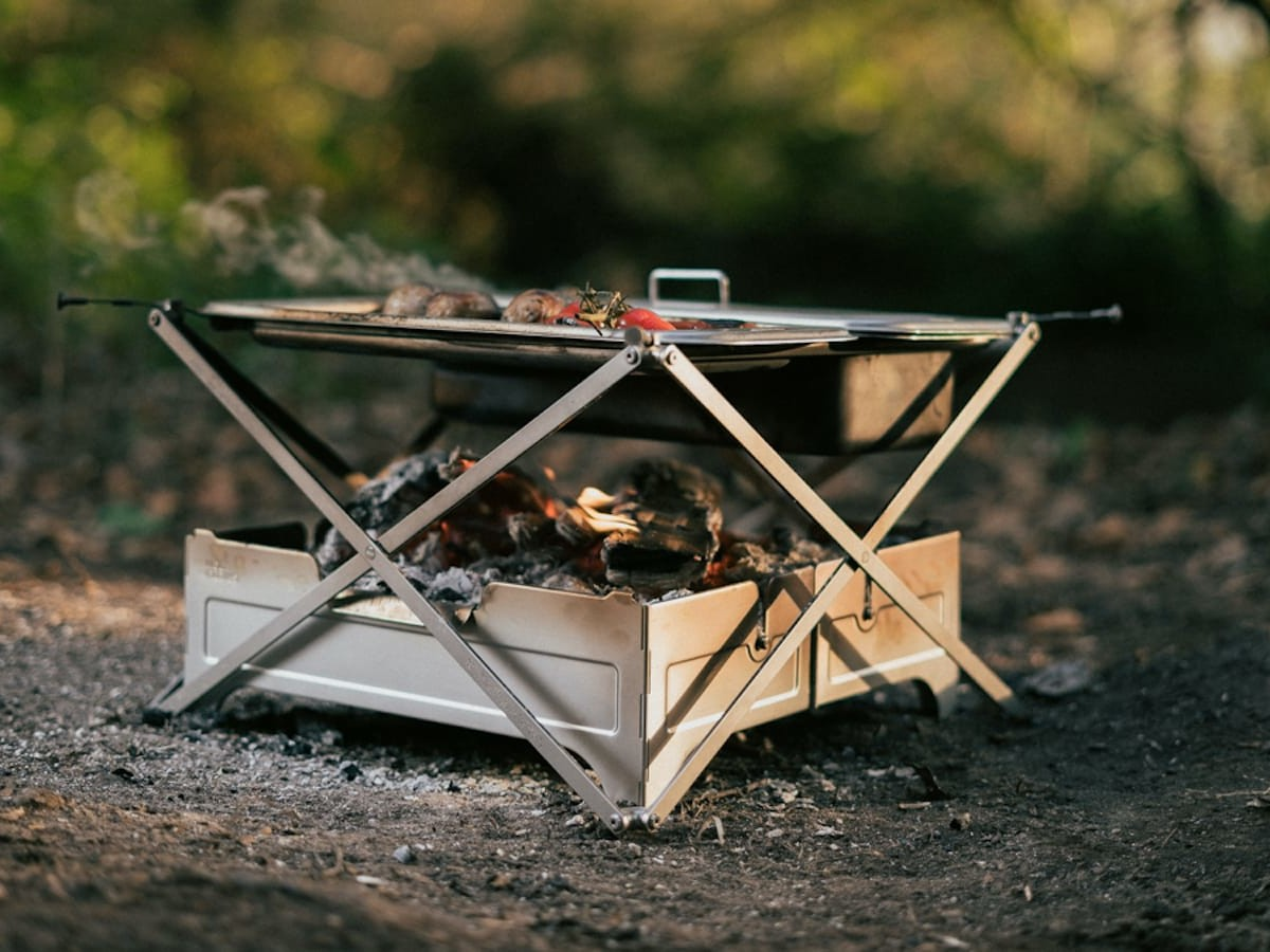 Cook System by Wolf and Grizzly compact cooking solution reimagines campfire meals