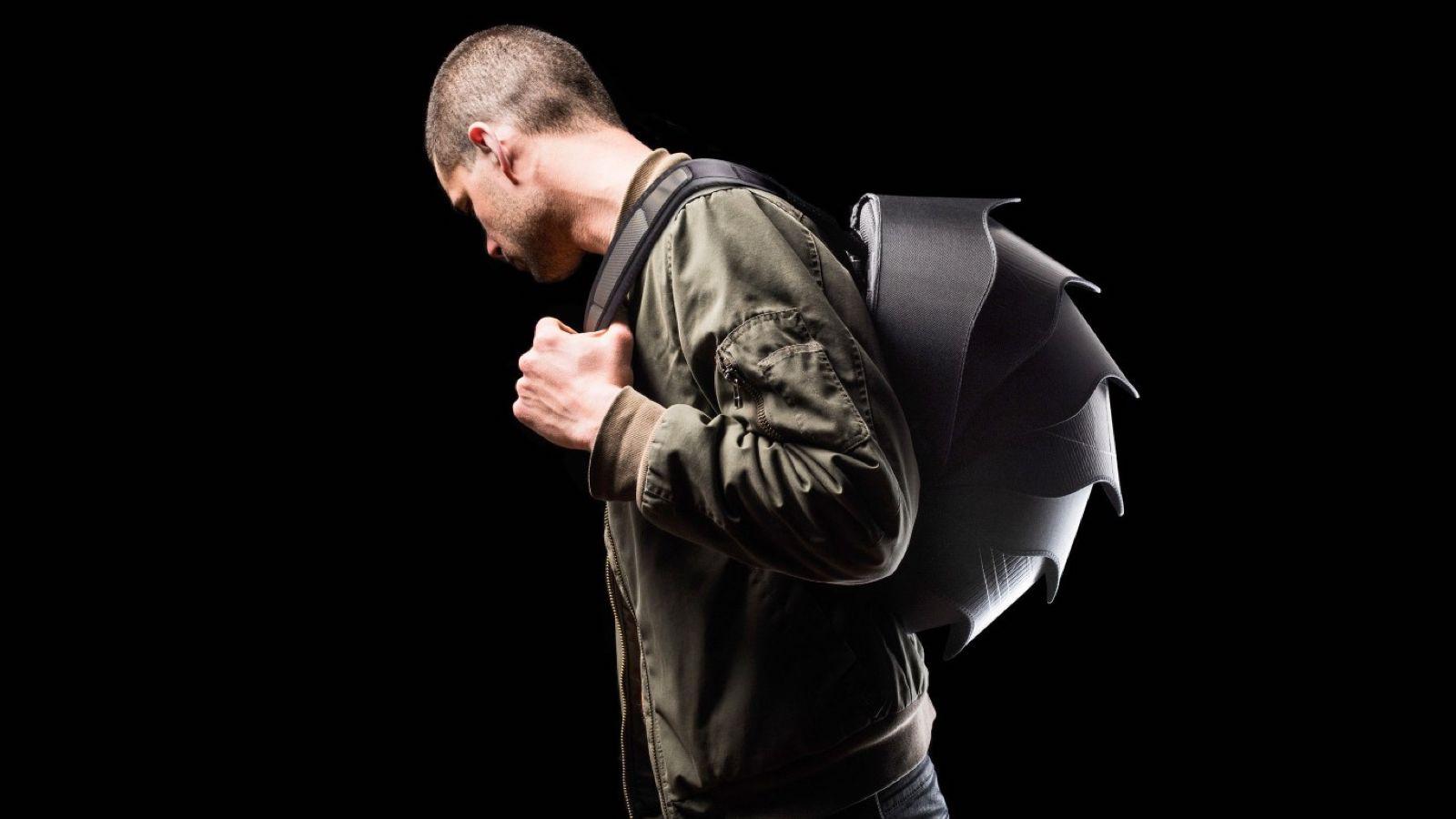 PANGOLIN Series concept backpack has a hemispherical shape
