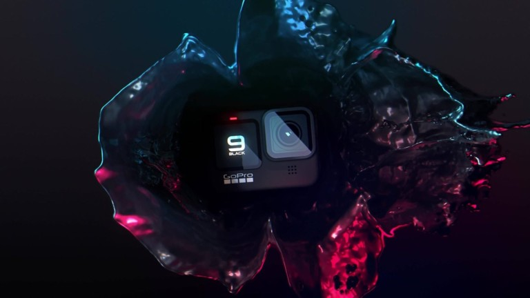 GoPro HERO9 Black 5K action camera has a front display for live previews