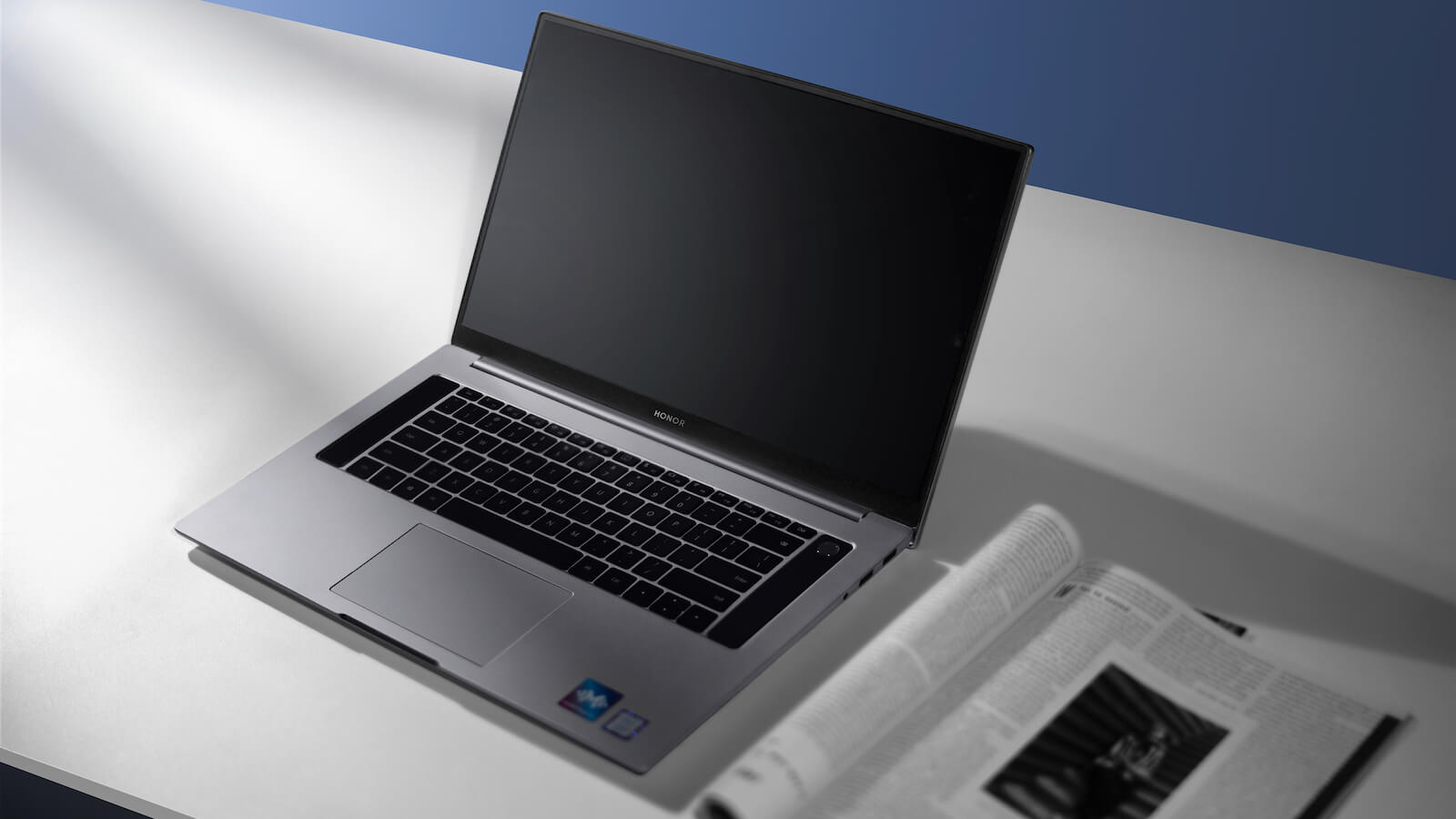 HONOR MagicBook Pro compact laptop has a Full HD FullView Display