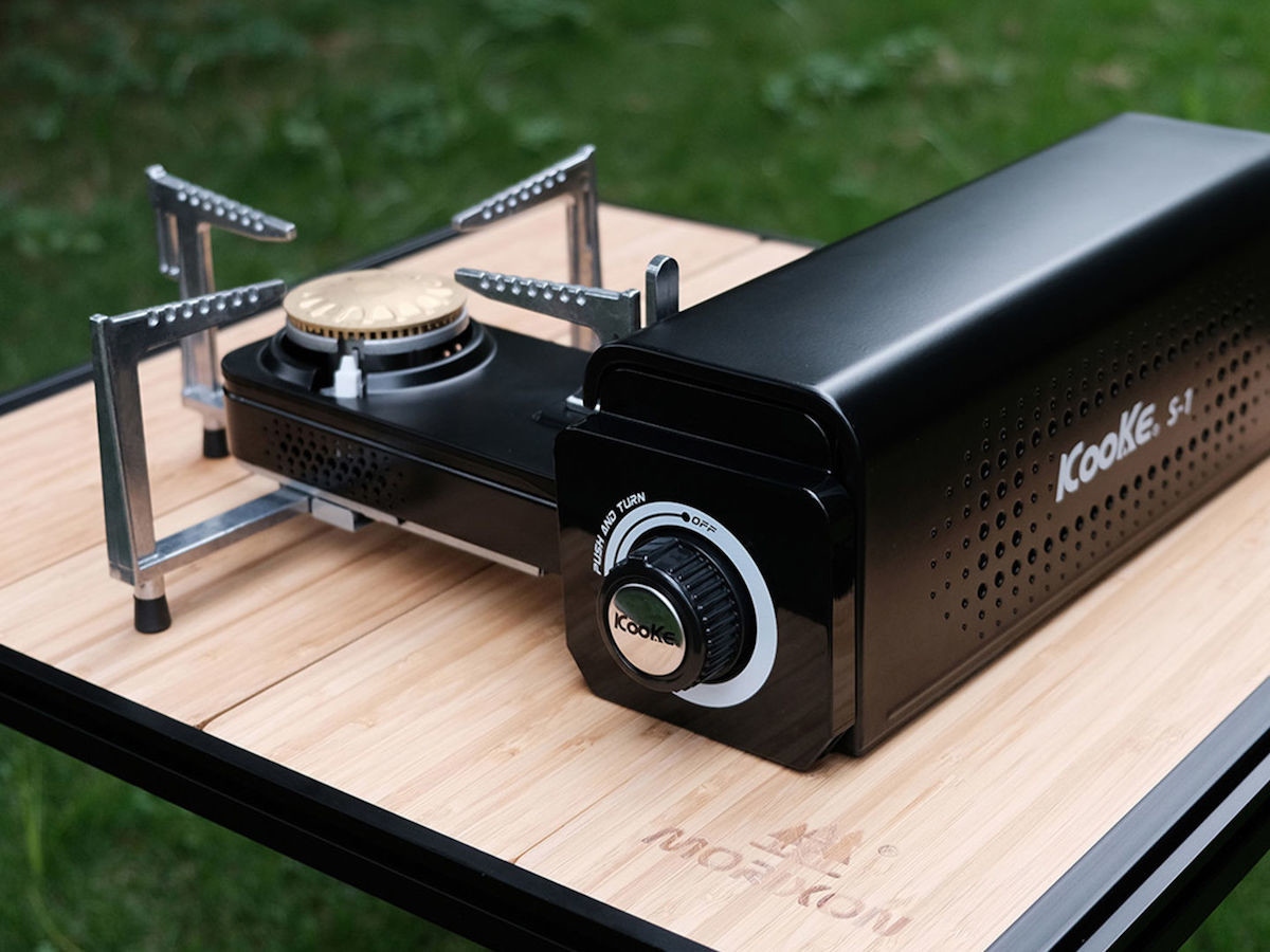 Kooke Portable Stove has a foldable design to cook food in the outdoors