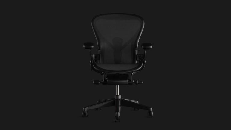 HermanMiller Aeron Chair ergonomic gaming seat has injected-molded foam
