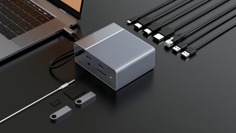 HyperDrive GEN2 USB-C docking station features 18 ports in one device