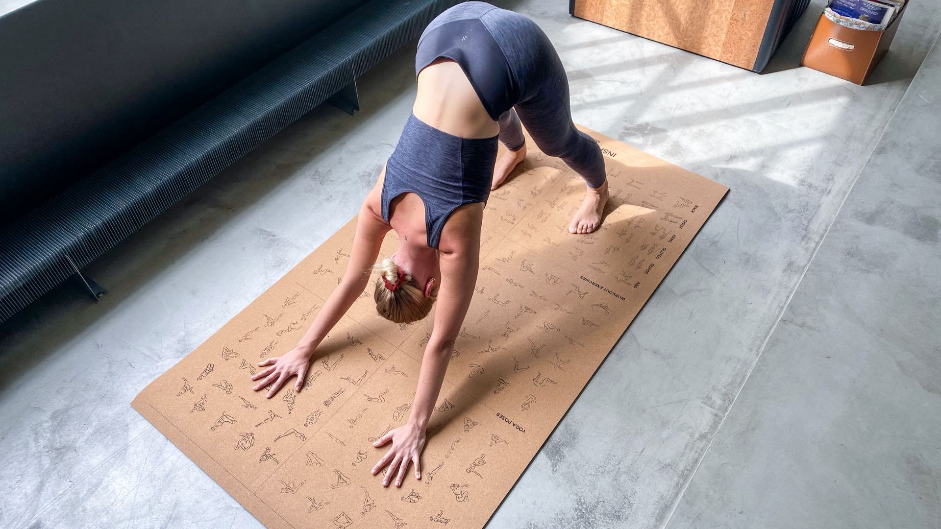INSPIRATION oversized & instructional mat is great for working out from home