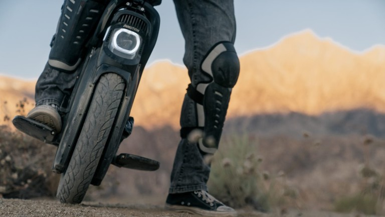 InMotion V11 electric unicycle can reach a speed of 34 miles per hour for a lot of fun