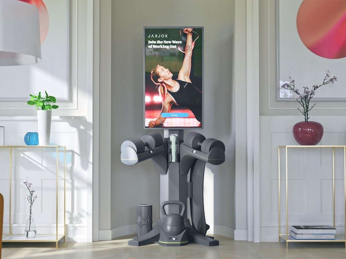 JAXJOX InteractiveStudio home fitness equipment stores all of your weights