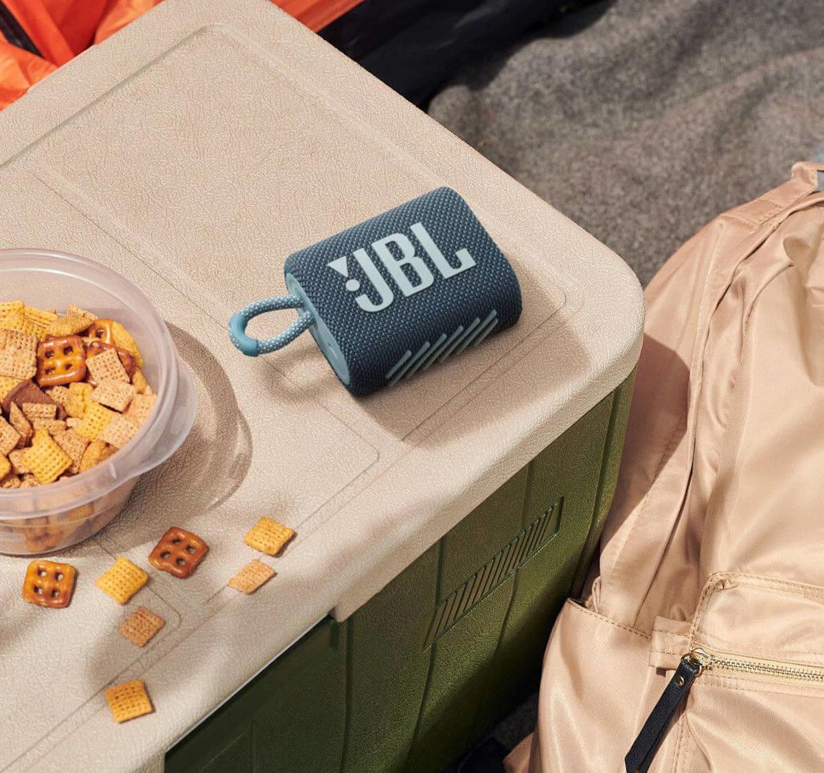 JBL Go 3 compact speaker is dustproof and waterproof