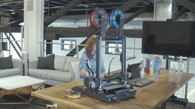 JGMaker Artist-D dual extruder independent 3D printer lets you use 4 different modes