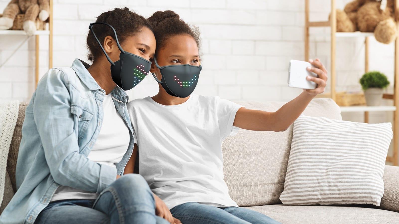JabberMask customizable LED face mask has more than 50 unique options