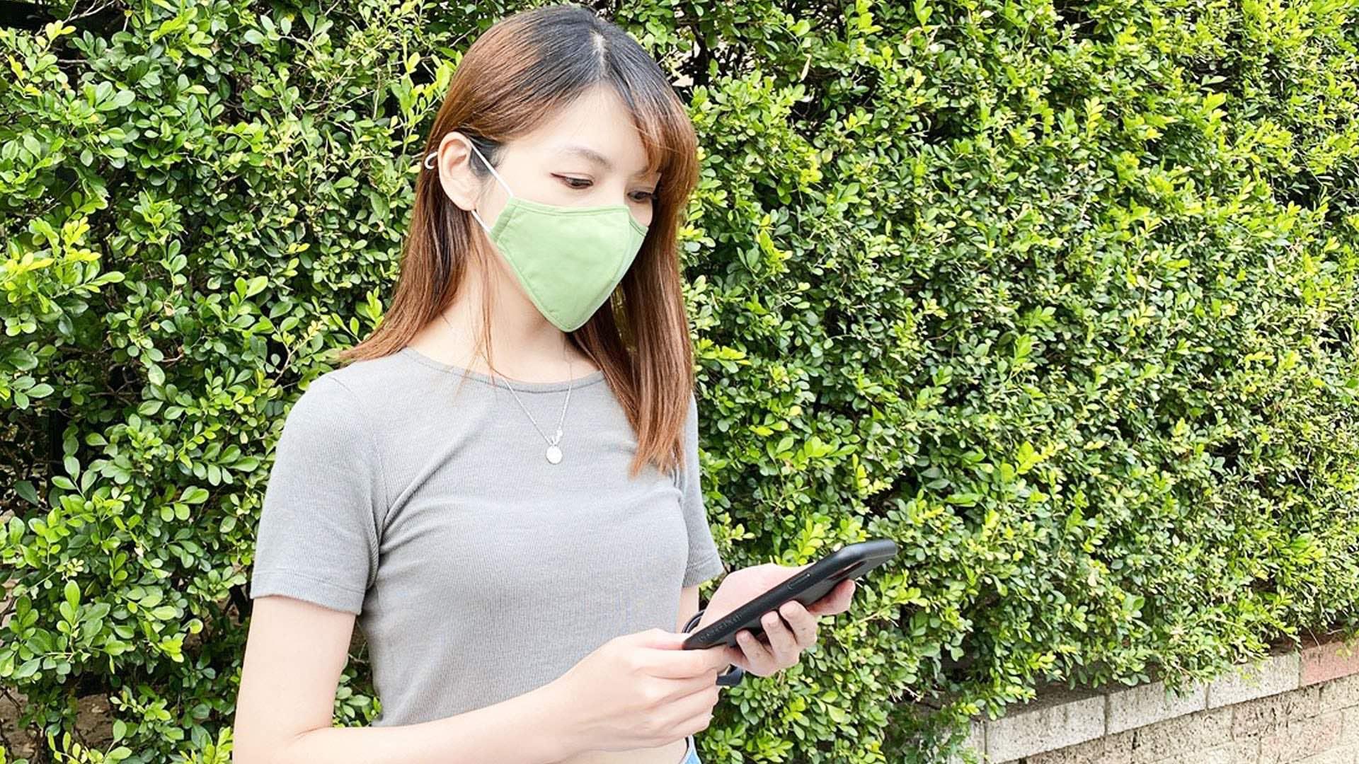 KSAMASK reusable UVC mask kills 99.9% of viruses