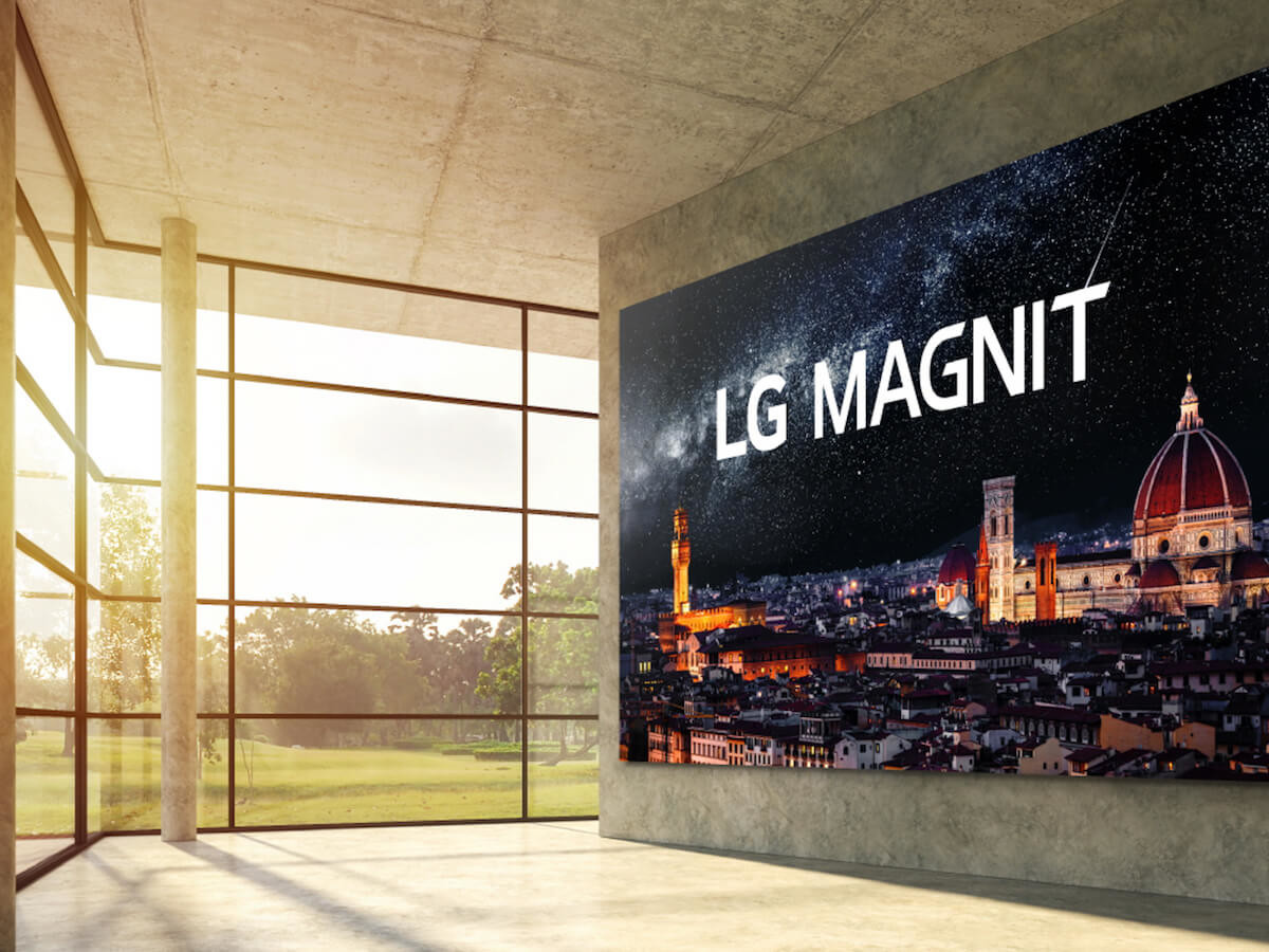 LG MAGNIT MicroLED TV boasts 163 inches of 4K resolution