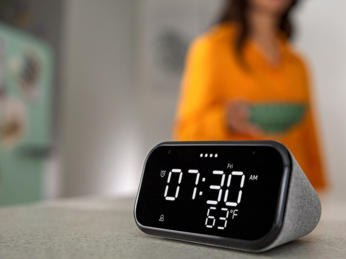 Lenovo Smart Clock Essential voice-assistant clock can answer your questions