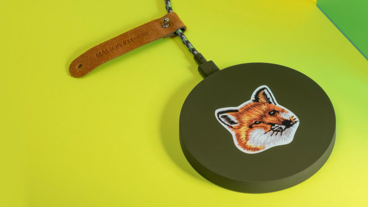 Maison Kitsuné x Native Union Wireless Charger phone pad features a weighted base