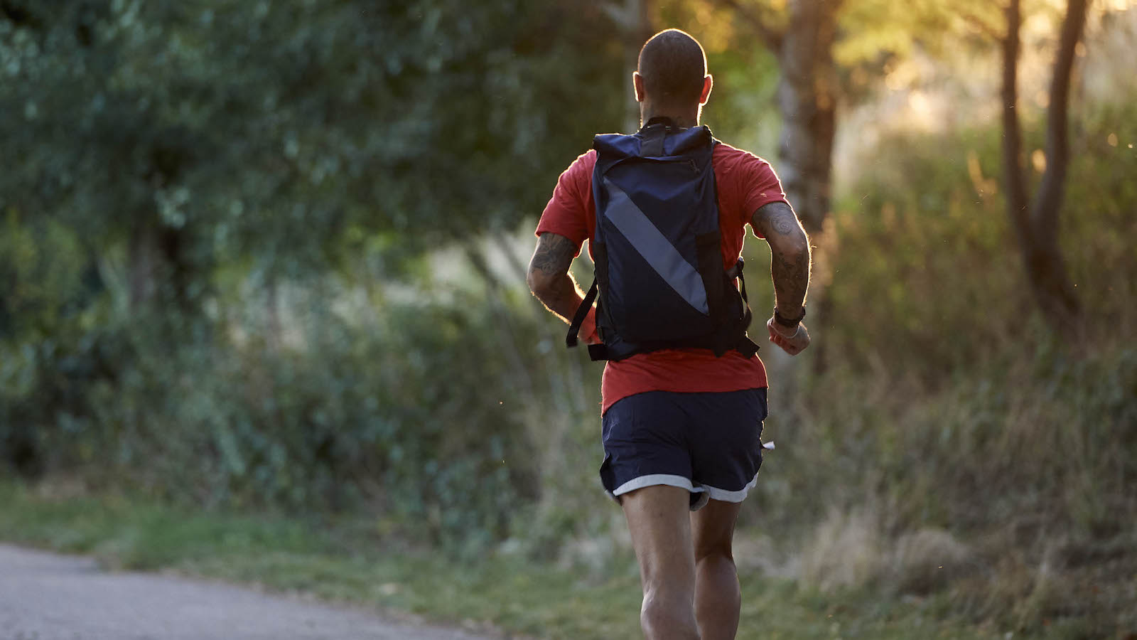 MW x Tracksmith Run Commute Pack breathable backpack is wearable even while running