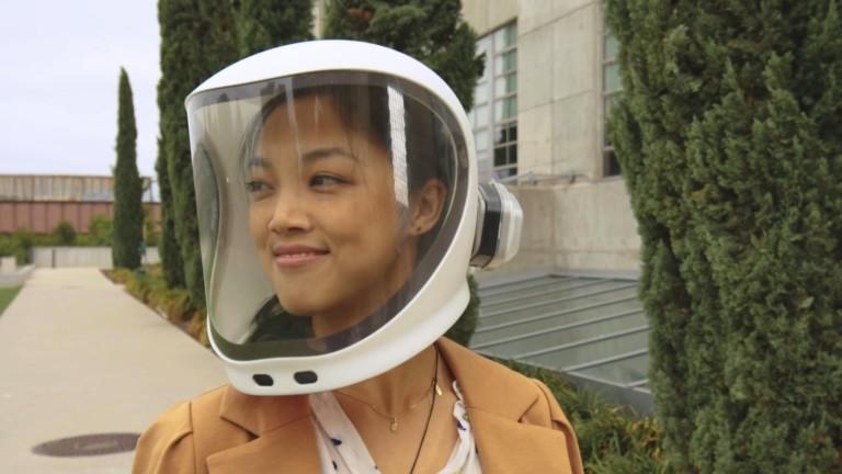 NE-1 Helmet evolved face mask provides N95-level purification