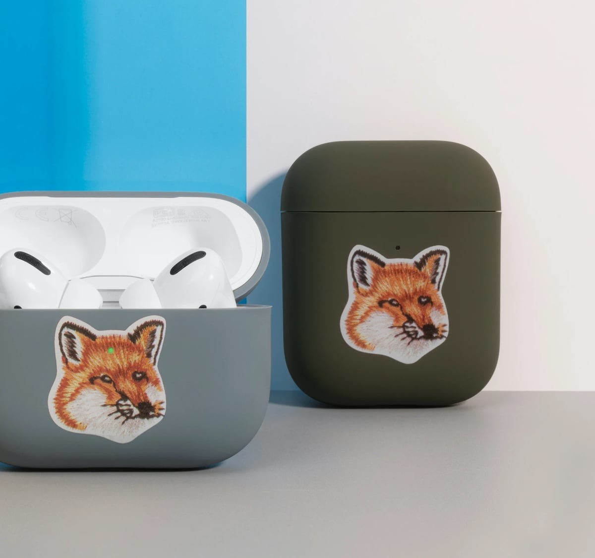 Native Union Maison Kitsuné case for AirPods has an adorable fox head on it