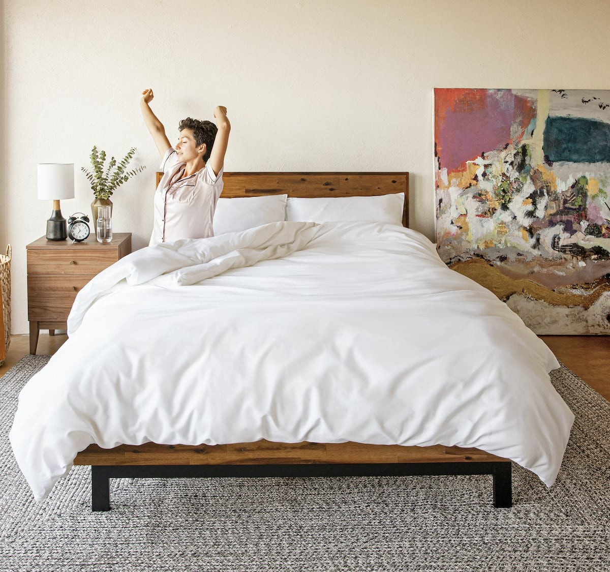 Notch Hypoallergenic Down Alternative Comforter keeps your temperature regulated all night