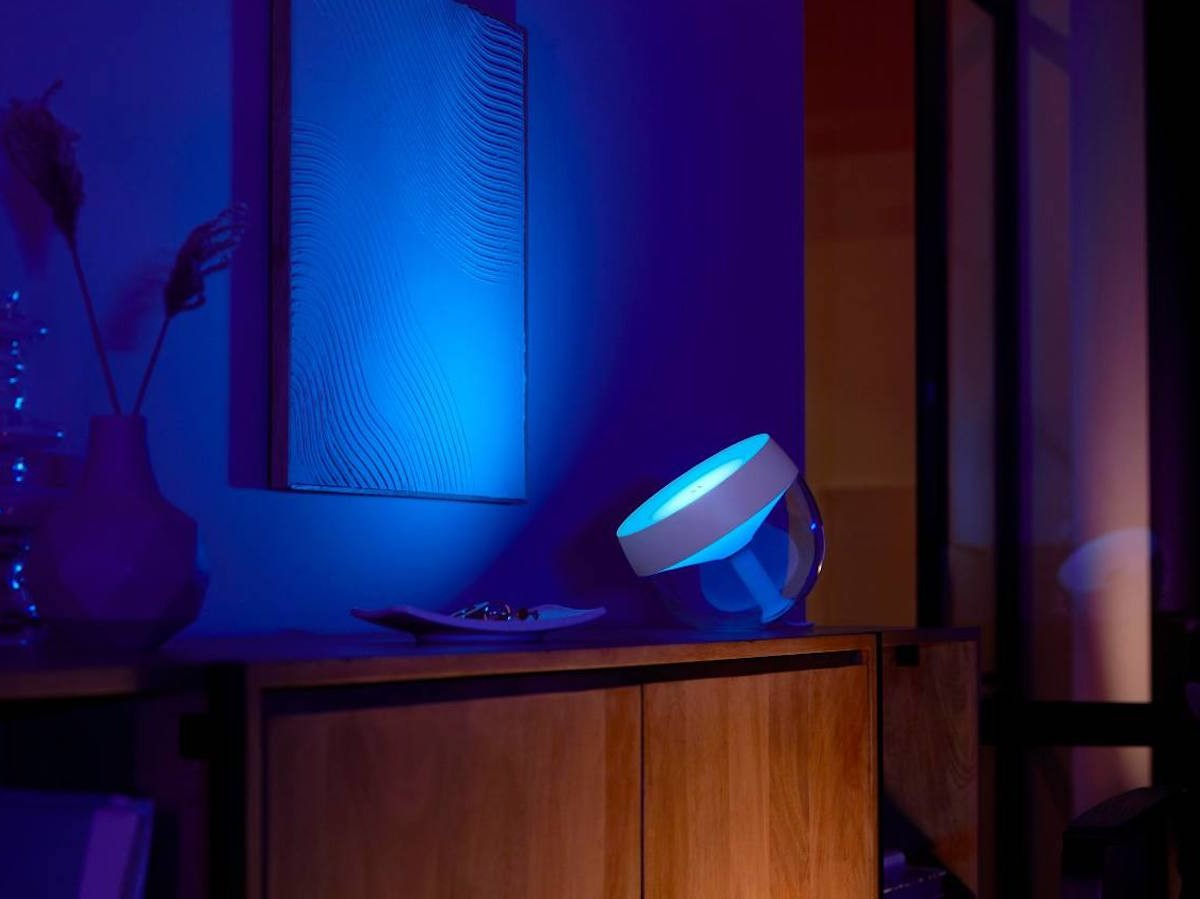 Philips Hue Iris table lamp provides rich, ambient lighting