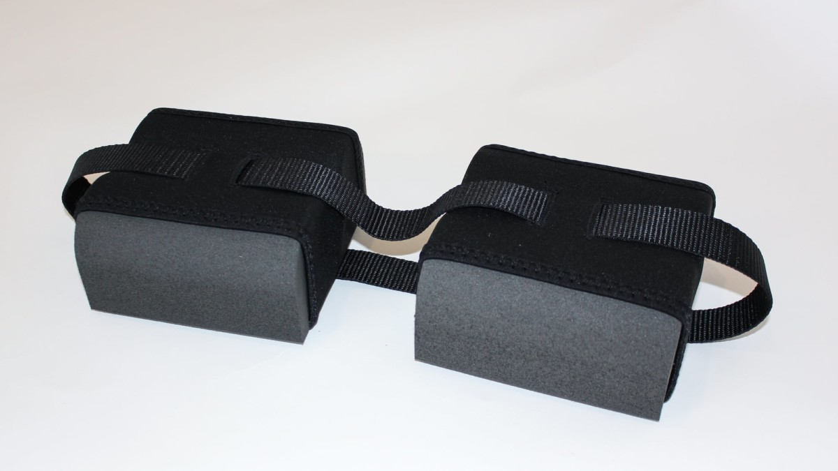 PhysicalMind Institute MININSERT neoprene holster relieves back tension from sitting