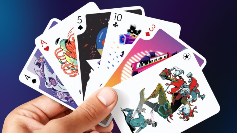 Playing Arts deck of artistic playing cards is inspired by the future